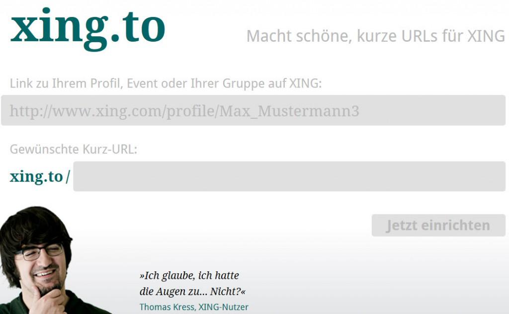 Linkverkürzer für XING