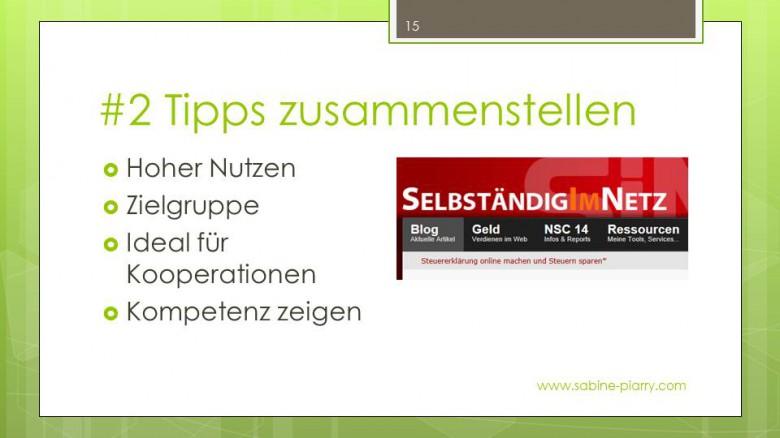 #2 Tipps zusammenstellen