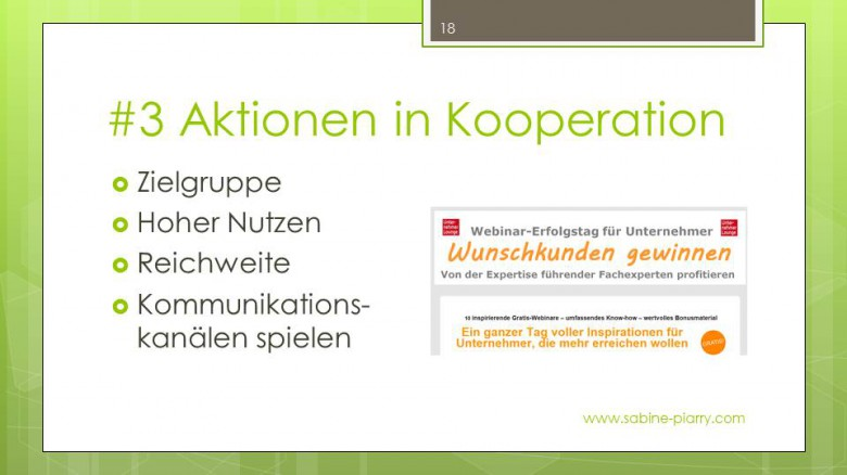 #3 Aktionen in Kooperation