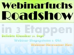 Kostenfreie Webinarfuchs Roadshow 2013 in drei Etappen