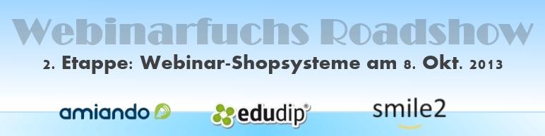 Webinar Roadshow Webinar Shopsysteme