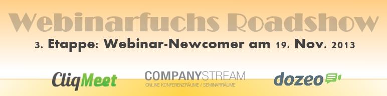 Webinar Roadshow Webinar Newcomer
